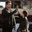 Edward Furlong and Arnold Schwarzenegger High Five