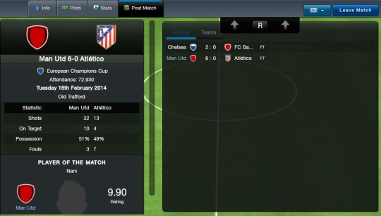Football Manager Classic 2014 Post-Match