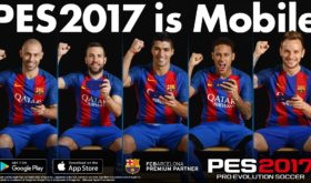 PES 2017 is out now on iOS and Android
